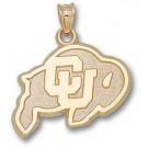 "Colorado Buffaloes 5/8"" ""Ralphie"" Pendant - 10KT Gold Jewelry"