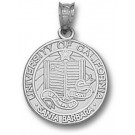 "California (Santa Barbara) Gauchos ""Seal"" Pendant - Sterling Silver Jewelry"