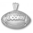 "Connecticut Huskies ""UConn Football"" Pendant - Sterling Silver Jewelry"