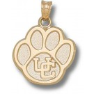 "Connecticut Huskies ""UC Paw"" 5/8"" Pendant - 14KT Gold Jewelry"