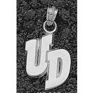 """Dayton Flyers """"UD"""" 1/4"""" Pendant - Sterling Silver Jewelry"""