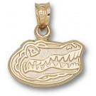 "Florida Gators ""Gator Head"" 3/8"" Pendant - 14KT Gold Jewelry"