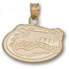 "Florida Gators ""Gator Head"" 1/2"" Pendant - 14KT Gold Jewelry"