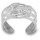 "Florida Gators ""Gator Head"" Toe Ring - Sterling Silver Jewelry"