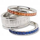 Florida Gators Logo Crystal Stacked Ring Set (Size 7)