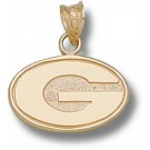 "Georgia Bulldogs ""G"" 3/8"" Pendant - 14KT Gold Jewelry"