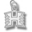 "Hawaii Rainbow Warriors ""H Logo"" 3/8"" Charm - Sterling Silver Jewelry"
