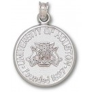 """Houston Cougars """"Seal"""" 3/4"""" Pendant - Sterling Silver Jewelry"""