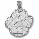 "Kentucky Wildcats ""K Paw"" 3/4"" Pendant - Sterling Silver Jewelry"