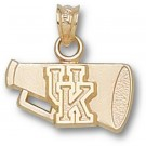"Kentucky Wildcats ""UK Flat Megaphone"" Pendant - 14KT Gold Jewelry"
