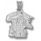 "Kentucky Wildcats ""UK Wildcat"" 5/8"" Pendant - Sterling Silver Jewelry"