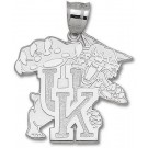 "Kentucky Wildcats Giant 1 5/8"" W x 1 5/8"" H ""Wildcat"" 1 5/8"" Pendant - Sterling Silver Jewelry"