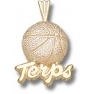 "Maryland Terrapins ""Terps Basketball"" Pendant - 10KT Gold Jewelry"