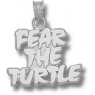 "Maryland Terrapins ""Fear the Turtle"" 5/8"" Pendant - Sterling Silver Jewelry"