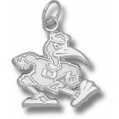 "Miami Hurricanes New ""Fighting Ibis"" 5/8"" Charm - Sterling Silver Jewelry"
