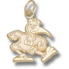 "Miami Hurricanes New ""Fighting Ibis"" 5/8"" Charm - 14KT Gold Jewelry"
