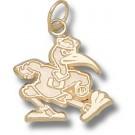 "Miami Hurricanes New ""Fighting Ibis"" 5/8"" Charm - 14KT Gold Jewelry"