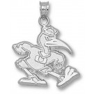 "Miami Hurricanes New ""Fighting Ibis"" 3/4"" Pendant - Sterling Silver Jewelry"
