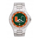 "Miami Hurricanes ""UM"" NCAA Men's Pro II Watch with Stainless Steel Bracelet"