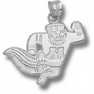 "Minnesota Golden Gophers ""Running Gopher"" Pendant - Sterling Silver Jewelry"