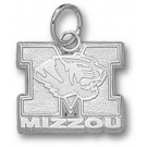 "Missouri Tigers New ""M Mizzou with Tiger Head"" 1/2"" Charm - Sterling Silver Jewelry"