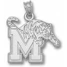 "Memphis Tigers ""M Tiger"" 5/8"" Pendant - Sterling Silver Jewelry"