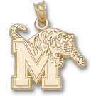 "Memphis Tigers ""M Tiger"" 5/8"" Pendant - 14KT Gold Jewelry"