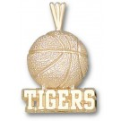 """Memphis Tigers """"Tigers Basketball"""" Pendant - 14KT Gold Jewelry"""