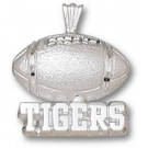 "Memphis Tigers ""Tigers Football"" Pendant - Sterling Silver Jewelry"