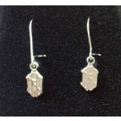 "New Hampshire Wildcats 5/16"" ""NH"" Dangle Earrings - Sterling Silver Jewelry"