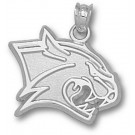 """New Hampshire Wildcats New """"Wildcat Head"""" 5/8"""" Pendant - Sterling Silver Jewelry"""