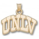 "Las Vegas (UNLV) Runnin' Rebels Arched ""UNLV"" 1/2"" Pendant - 14KT Gold Jewelry"