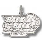 "Florida Gators 2006-2007 Back 2 Back NCAA National Champions 7/16"" Charm - Sterling Silver Jewelry"