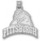 """Pittsburgh Panthers """"Pittsburgh with Panther Head"""" Pendant - Sterling Silver Jewelry"""