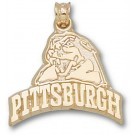 """Pittsburgh Panthers """"Pittsburgh with Panther Head"""" Pendant - 14KT Gold Jewelry"""