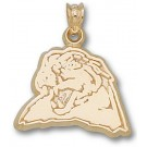 """Pittsburgh Panthers """"Panther Head"""" 1/2"""" Pendant - 14KT Gold Jewelry"""