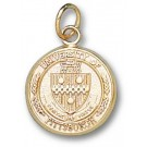 """Pittsburgh Panthers """"Seal"""" 1/2"""" Charm - 14KT Gold Jewelry"""