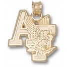 "Air Force Academy Falcons ""AF with Falcon"" Pendant - 14KT Gold Jewelry"