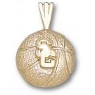 """USC Trojans """"SC Basketball"""" Charm - 14KT Gold Jewelry (1/4"""" W x 1/4"""" H)"""