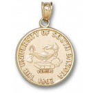 "South Dakota Coyotes ""Seal"" Pendant - 14KT Gold Jewelry"