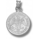 "Southern Mississippi Golden Eagles ""Eagle Seal"" Pendant - Sterling Silver Jewelry"