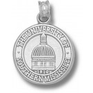 "Southern Mississippi Golden Eagles ""Dome Seal"" Pendant - Sterling Silver Jewelry"