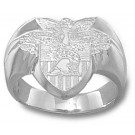"""Army Black Knights """"Seal"""" Men's Ring Size 10 1/4 - Sterling Silver Jewelry"""