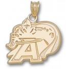 "Army Black Knights New ""A Knight Logo"" 5/8"" Pendant - 14KT Gold Jewelry"