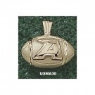 """Army Black Knights New """"A Football"""" Pendant - 14KT Gold Jewelry"""