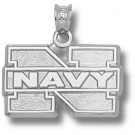 "Navy Midshipmen ""N Navy"" 1/2"" Pendant - Sterling Silver Jewelry"