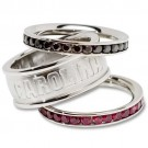 South Carolina Gamecocks Logo Crystal Stacked Ring Set (Size 6)