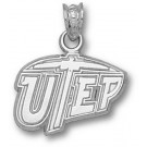 "Texas (El Paso) Miners ""UTEP"" 7/16"" Pendant - Sterling Silver Jewelry"