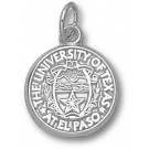 "UTEP Texas (El Paso) Miners ""Seal"" 1/2"" Charm - Sterling Silver Jewelry"