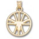"Texas Longhorns ""Longhorn Pierced Basketball"" Pendant - 10KT Gold Jewelry by"